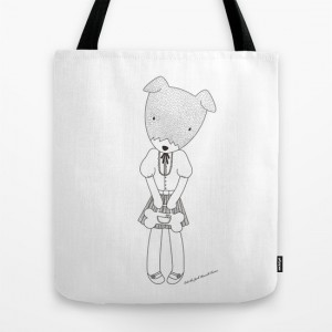 LOLO THE JACK RUSSELL TERRIER TOTE Bag