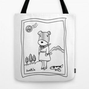 Lolo the dog in Seattle TOTE Bag