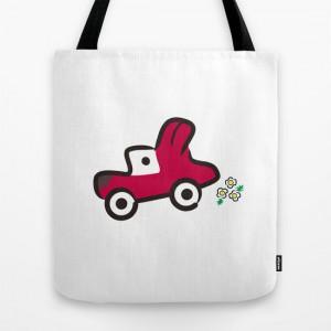 FUN DRIVE Dog Car TOTE Bag
